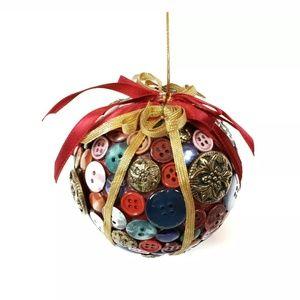 Handmade | Colorful Unique Button Xmas Ornament